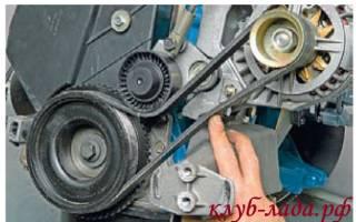 Как снять генератор с калины с кондиционером