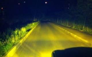 Лампы ксенон желтого цвета