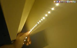 Как приклеить светодиодную ленту к стеклу