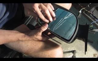 Как разобрать боковое зеркало на калине видео
