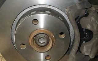 Максимальный износ тормозного диска