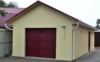 Минимальная ширина гаража на 1 машину